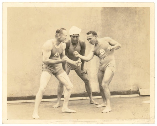 08 Snowy Baker, Duke Kahanamoku and Frank Beaurepaire, Sydney, [between 1914-1924]  photographer unknown