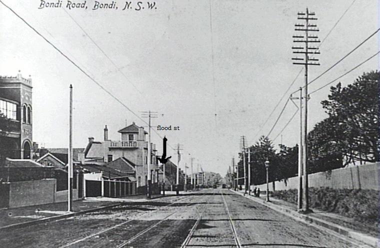 bondi rd & flood st looking east 1914