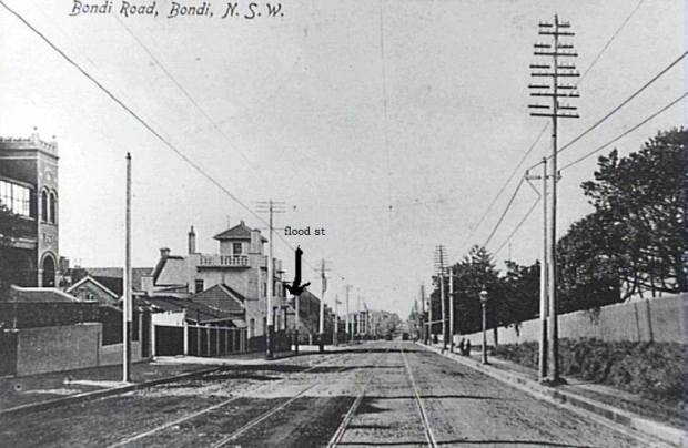 bondi rd & flood st looking east 1914
