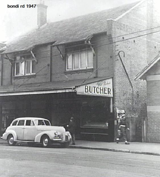 F.C. Nichols, Butchers Shop, 129 Bondi Road next to Post Office